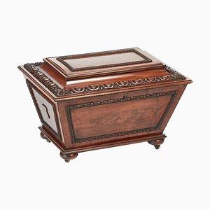 Antique William IV Carved Mahogany Wine Cooler