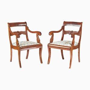 Französische Mahagoni Carver Stühle, 1880er, 2er Set