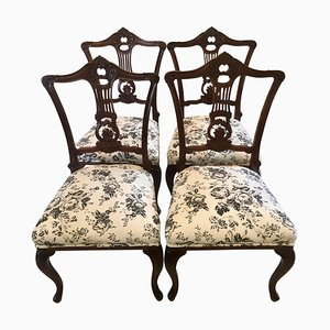 19th Century Victorian Mahogany Dining Chairs, Set of 2