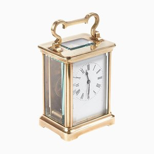 Antique French Lacquered Brass Cased Carriage Clock