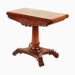 Antique William IV Rosewood Card Table, 1835