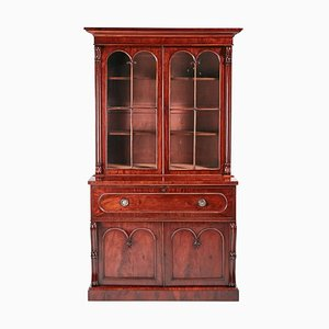 William IV Mahogany Secretaire Bookcase