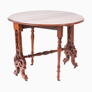 Viktorianischer Sutherland Tisch aus Walnuss Wurzelholz