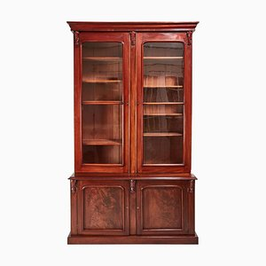 Large Antique Victorian Mahogany Bookcase