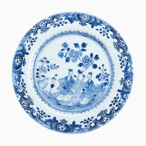 18th Century Chinese Blue and White Plate