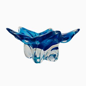 Blue Star Bowl by Josef Hospodka for Chinska, 1970s
