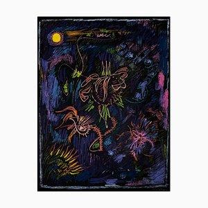 Litografía Abstract Abstract Composition - Original de André Masson - años 70