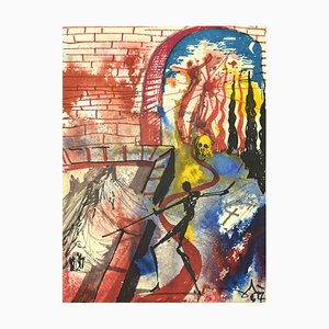 Romeo and Juliet Act 5, Scene 5 - Original Lithograph by Salvador Dalì - 1975 1975