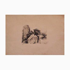 River - Original Lithograph - XX century 20th century