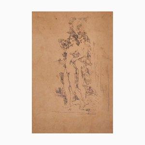 Figuren - Original Stift auf Papier - 20th Century 20th Century