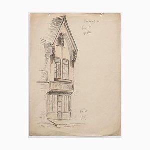Haushalt - Original Stift und Pastell auf Papier - 19. Jahrhundert 19. Jahrhundert
