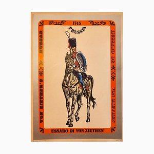 Hussard Vintage Offset Poster - Mitte des 20. Jahrhunderts Mitte des 20. Jahrhunderts