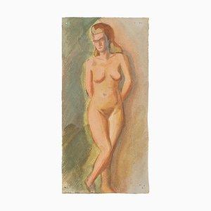 Nude - Original Aquarell auf Papier von Jean Delpech - 1960er 1960er