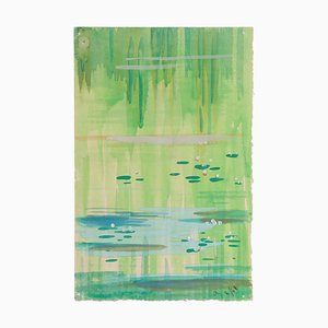 Marsh - Original Aquarell auf Papier von Jean Delpech - 1948 1948