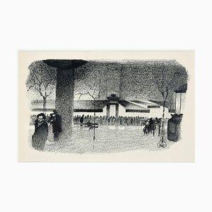 Quartier Latin - Original Lithographie von A. Hallman - 1930er Jahre