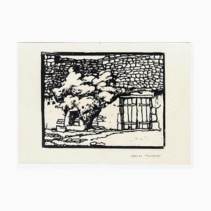 Country House - Original Woodcut Print by M. Haussaire - 1890s