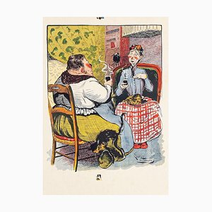 Coffee Time - Original Lithograph by I. de Beauvais - 1900 1900
