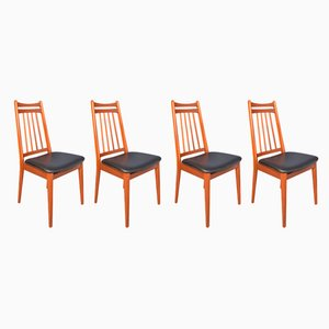 Danish Style Teak Dining Chairs in the Style of Niels Moller, 1960s, Set of 4