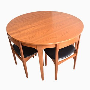 Teak Round Table & Tuck Under Chairs from Nathan, 1960s, Set of 5