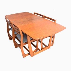 Danish Style Teak Portwood Table & Chairs Set, 1960s, Set of 5