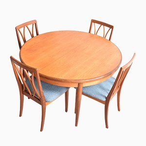 Teak Table & Chairs Set by Viktor Wilkins for G-Plan, 1960s, Set of 5