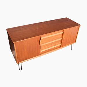 Teak Short TV Cabinet with Hairpin Legs from Jentique, 1960s