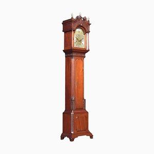 Antique Miniature Mahogany Cased Grandfather Clock