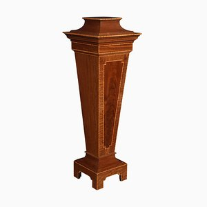 Antique Mahogany Pedestal Torchiere Stand