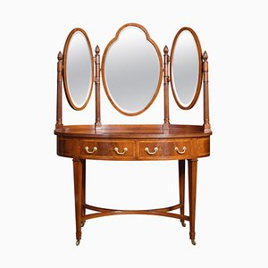 Mahogany Inlaid Oval Dressing Table, 1900s