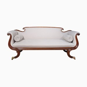 Mahogany Scroll End Settee, 1860s