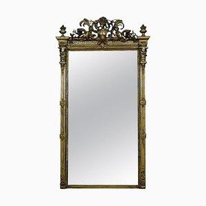 Antique Rococo Revival Giltwood and Composition Pier Mirror