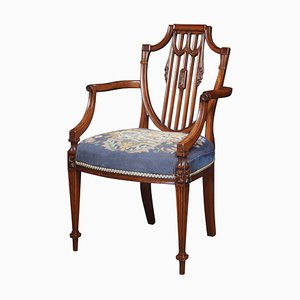 19th Century Hepplewhite Mahogany Armchair
