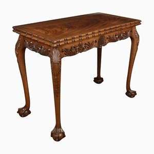 Antique Chippendale Style Carved Mahogany Card or Side Table