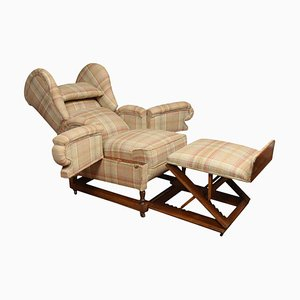 19th Century Reclining Wing Armchair