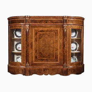 Victorian Walnut and Kingwood Cross Banded Credenza