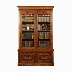 Late-19th Century Oak 2-Door Bookcase