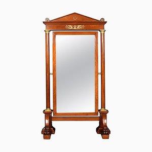Antique Empire Substantial Mahogany Cheval Mirror