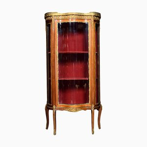 Small Serpentine Fronted Display Cabinet, 1900s