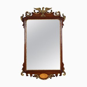 Antique George II Style Mahogany and Giltwood Mirror