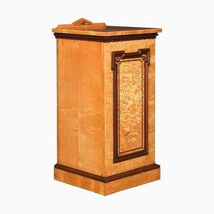 Figured Ash Bedside Cabinet, 1900s