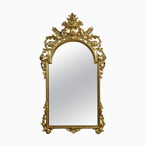 Large Baroque Style Giltwood Wall Mirror, 1930s