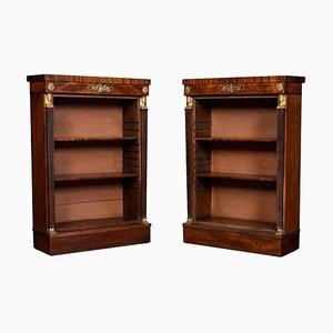 Regency Mahogany Open Bookcases, Set of 2