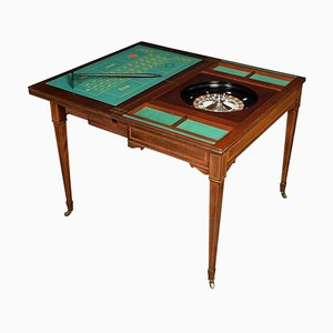 Antique Edwardian Mahogany Inlaid Roulette Games Table