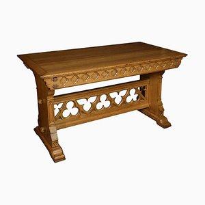 Antiker gotischer auswechselbarer Tisch aus Eiche
