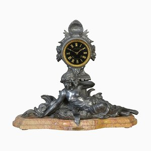 French Le Premier Miroit Mantel Clock by Francois Moreau