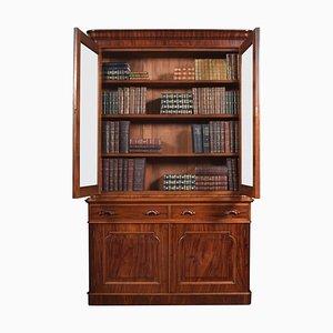 Viktorianisches Bücherregal aus Mahagoni mit 2 Türen