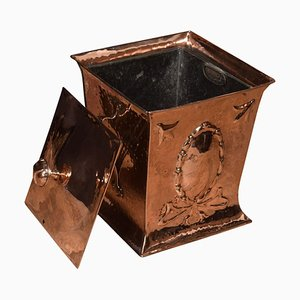 Arts & Crafts Copper Coal Bin
