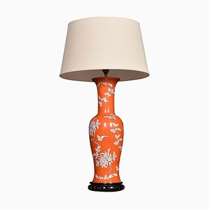 Chinese Baluster Form Porcelain Lamp, 1950s