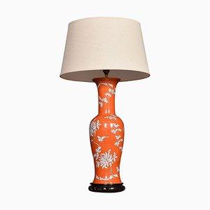 Chinesische Baluster Form Porzellan Lampe, 1950er