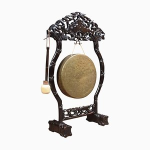 Antique Chinese Carved Dinner Gong